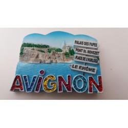 Magnet Résine Avignon - Direction