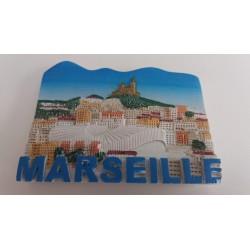 Magnet Résine Marseille Vélodrome Notre Dame