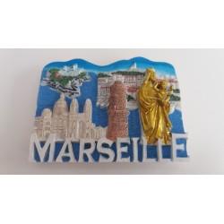 Magnet Résine Marseille Notre Dame Multi-vues