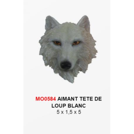 Magnet Tête Loup Blanc