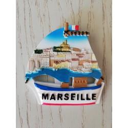 Magnet Résine Marseille Bateau