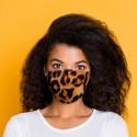"Masque de Protection Réutilisable Tissu ""Léopard"""
