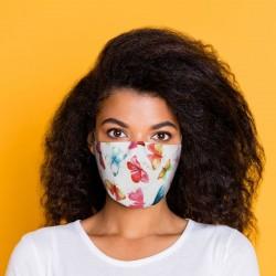 """Masque de Protection Réutilisable Tissu """"Papillons"""""""