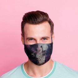 """Masque de Protection Réutilisable Tissu """"Loup"""""""