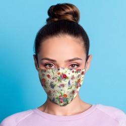 """Masque de Protection Réutilisable Tissu """"Fleurs"""""""