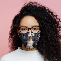 """Masque de Protection Réutilisable Tissu """"Chat Sorcier"""""""