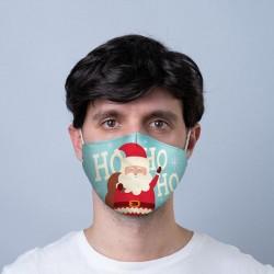"""Masque de Protection Réutilisable Tissu """"Père Noël"""""""