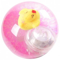 Balle Rebondissante Lumineuse Canard Rose