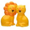 Lot Salière et Poivrière Couple de Lions