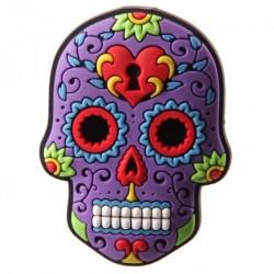 """Magnet  """"Jour des Morts Mexicains"""" Violet"""