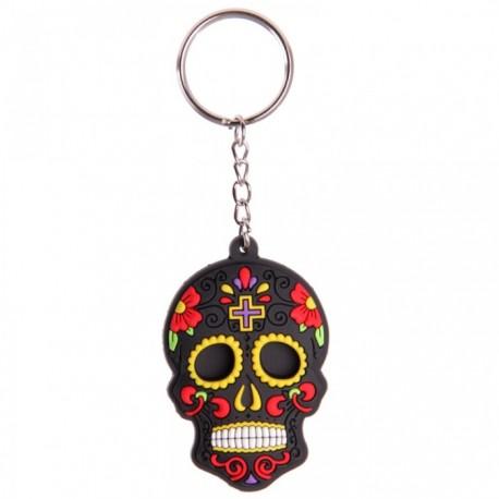 """Porte-Clefs """"Jour des Morts Mexicains Noir"""""""