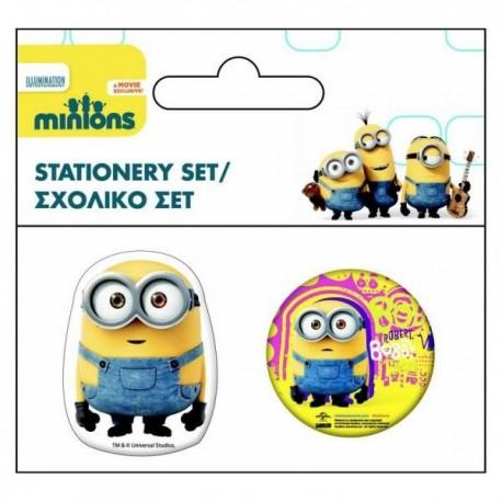 "Set Taille-crayon + Gomme ""Les Minions"""