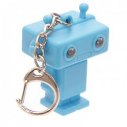 Porte-Clés Lumineux et Sonore Robot Bleu
