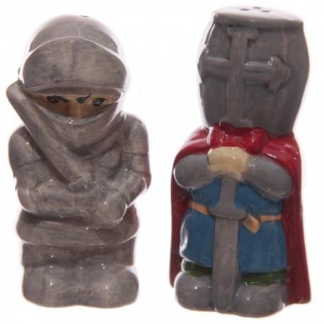 Lot Salière et Poivrière Chevaliers avec Epée