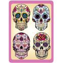 Sticker Cleaner Jour des Morts Mexicains 4 Têtes