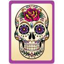 Sticker Cleaner Jour des Morts Mexicains Rose