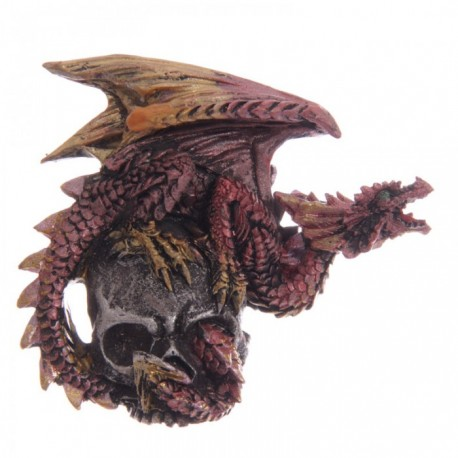 Magnet Dragon sur Crâne (Rouge)