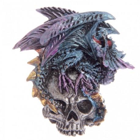 Magnet Dragon sur Crâne (Bleu)