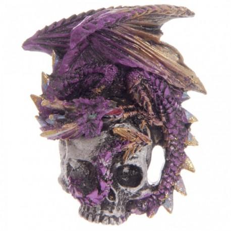 Magnet Dragon sur Crâne (Violet)
