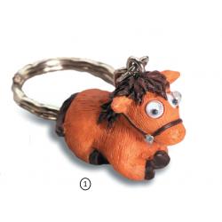 Porte cl s cheval rigolo yeux mobiles 1 marron marcoeagle - Cheval rigolo ...