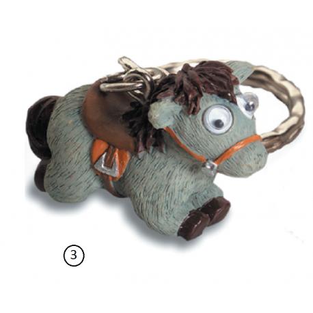 Porte cl s cheval rigolo yeux mobiles 3 gris marcoeagle - Cheval rigolo ...