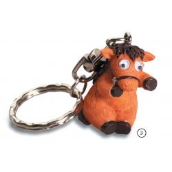 Porte cl s cheval rigolo yeux mobiles 3 marron marcoeagle - Cheval rigolo ...