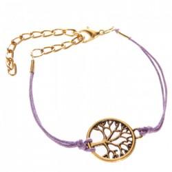 Bracelet Arbre de Vie Violet