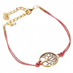 Bracelet Arbre de Vie Rouge