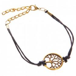 Bracelet Arbre de Vie Noir