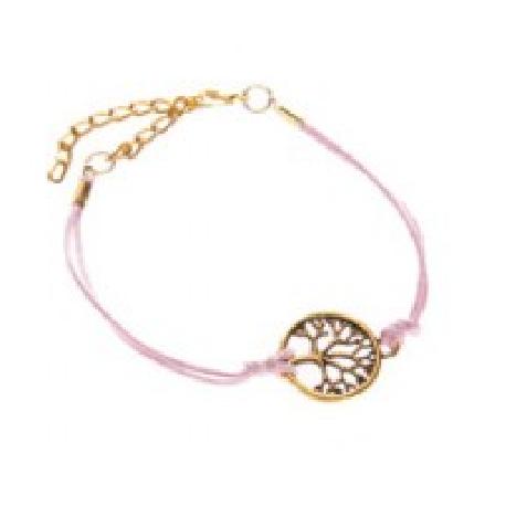 Bacelet Arbre de Vie Rose