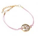 Bracelet Arbre de Vie Rose
