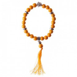 Bracelet Mala Bouddha Orange