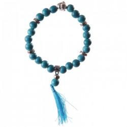 Bracelet Mala Bouddha Turquoise