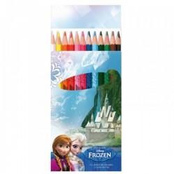 """Set de 12 Crayons de couleur """"La Reine des Neiges"""""""