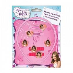 """Set Accessoires Cheveux """"Violetta"""" 7 pièces"""