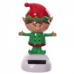 Figurine Solaire Lutin de Noël