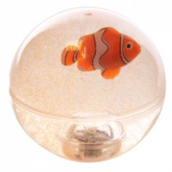 Balle Rebondissante Lumineuse Poisson Clown (Orange)
