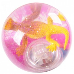 Balle Rebondissante Lumineuse Lézard (Rose)