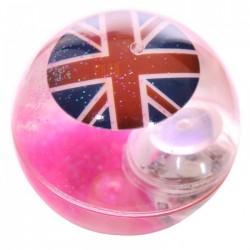 Balle Rebondissante Lumineuse Drapeau Anglais (Rose)