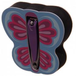 Papillon - Lime à Ongle, Polissoir, Coupe Ongle (Violet)