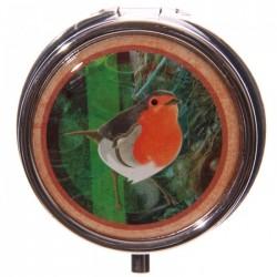 Boîte à cachets Oiseaux (Orange)