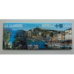 Magnet Panoramique Calanques/Marseille/Cassis