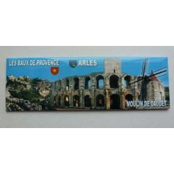 Magnet Panoramique Les Beaux de Provence/Arles/le Moulin de Daudet