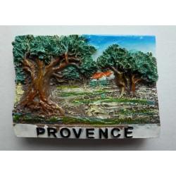 Magnet Résine Provence Olivier