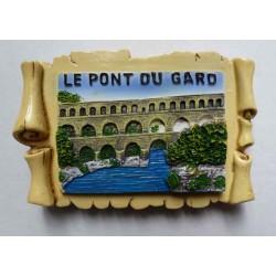 Magnet Résine Pont du Gard Parchemin 02