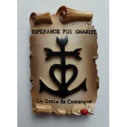 Magnet Résine Croix de Camargue Parchemin 01