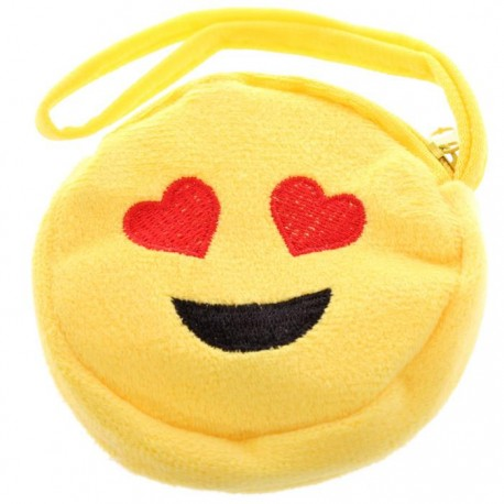 Porte-Monnaie Smiley Coeurs