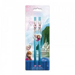 """Blister 2 crayons à papier Elsa + gomme """"La Reine des Neiges"""""""