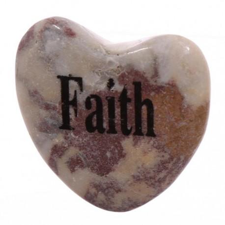 Magnet Coeur en Pierre FOI - FAITH