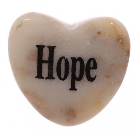 Magnet Coeur en Pierre ESPOIR - HOPE